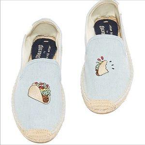 Jason Polan for SOLUDOS slip on taco shoes